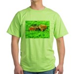 Nuzzling Cows Green T-Shirt