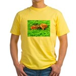 Nuzzling Cows Yellow T-Shirt