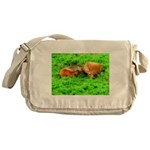 Nuzzling Cows Messenger Bag