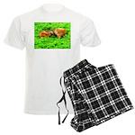 Nuzzling Cows Men's Light Pajamas