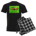 Nuzzling Cows Men's Dark Pajamas