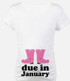 January Due Date Cowgirl Shirt