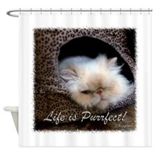 Life is Purrfect Shower Curtain