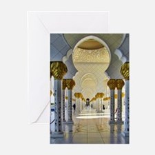 Sheikh Zayed Mosque Corridor Greeting Cards (Pk of