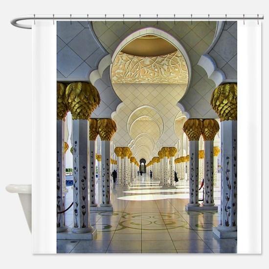 Sheikh Zayed Mosque Corridor Shower Curtain