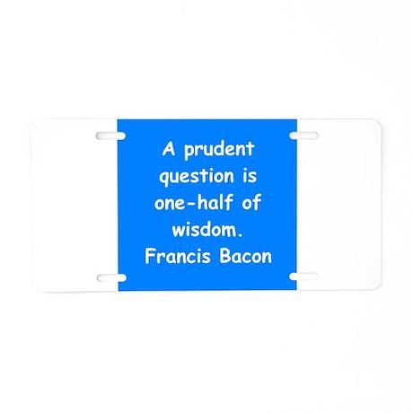 francis bacon Aluminum License Plate