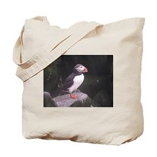 Puffin on the Rocks Tote Bag