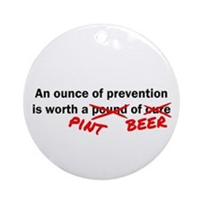 A Pint of Beer Ornament (Round)