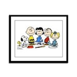 The Peanuts Gang Framed Panel Print
