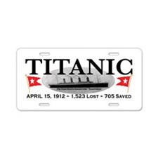 Titanic Ghost Ship (white) Aluminum License Plate