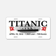 Titanic Ghost Ship (white) Aluminum License Plate