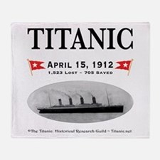 Titanic Ghost Ship (white) Throw Blanket