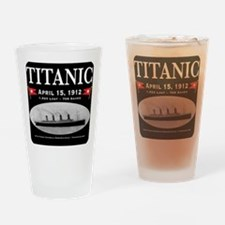 Titanic Ghost Ship (black) Drinking Glass