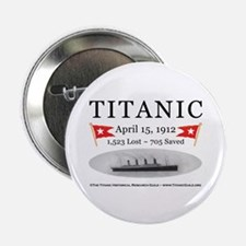 "Titanic Ghost Ship (white) 2.25"" Button (10 pack)"