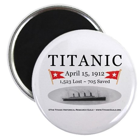"""Titanic Ghost Ship (white) 2.25"""" Magnet (10 pack)"""
