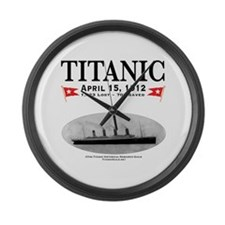 """Titanic Ghost Ship 17"""" Large Wall Clock (whit"""