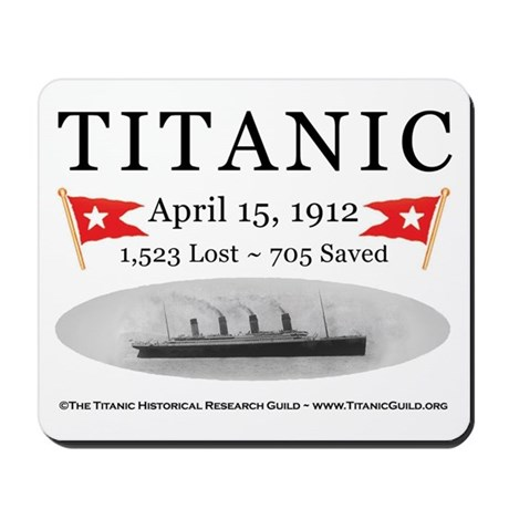 Titanic Ghost Ship (white) Mousepad