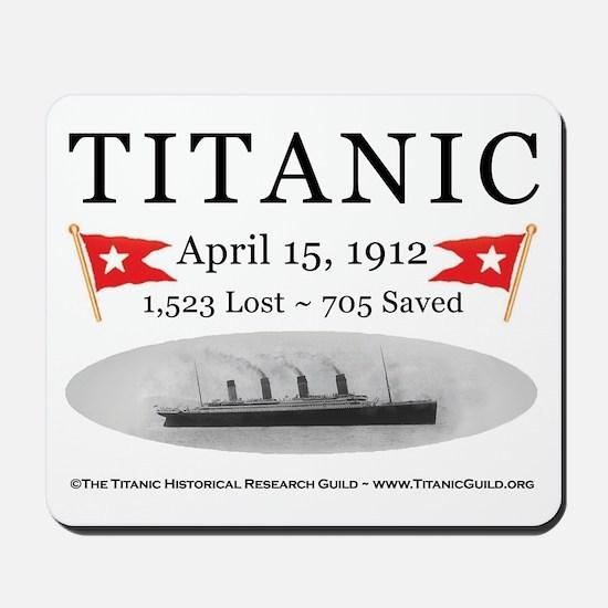 Titanic Ghost Ship (white) Mousepad