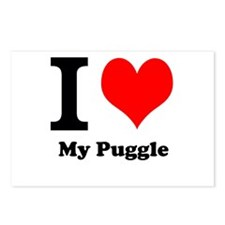 I Heart My Puggle Postcards (Package of 8)
