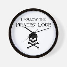 Pirates' Code Wall Clock