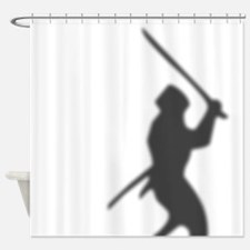 Ninja In The Shower Curtain