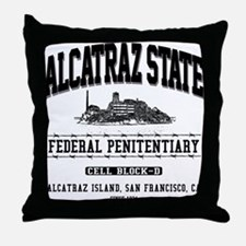 ALCATRAZ STATE Throw Pillow