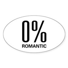 0% Romantic Oval Decal