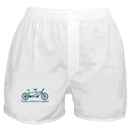 Tandem Cyclists Do It Together Boxer Shorts
