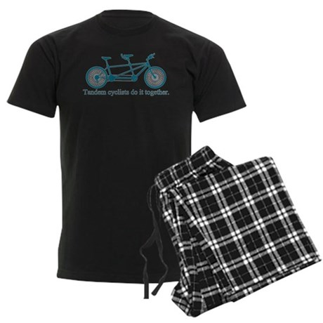 Tandem Cyclists Do It Together Men's Dark Pajamas