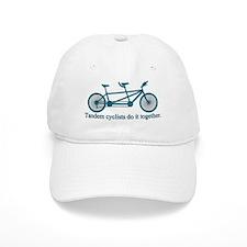 Tandem Cyclists Do It Together Baseball Baseball Cap