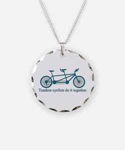 Tandem Cyclists Do It Together Necklace