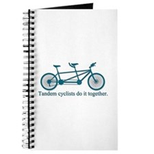Tandem Cyclists Do It Together Journal