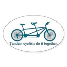 Tandem Cyclists Do It Together Decal
