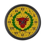 Iron Ox Large Wall Clock