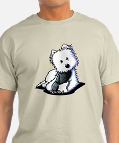 Muggles Westie with Shoe T-Shirt