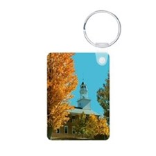 Vermont Country Church Aluminum Photo Keychain