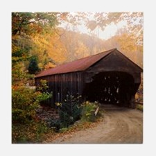 Vermont Covered Bridge Tile Coaster