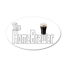The HomeBrewer Stout 22x14 Oval Wall Peel