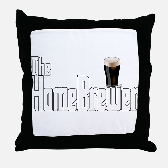 The HomeBrewer Stout Throw Pillow