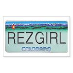 Colorado Rez Girl Sticker (Rectangle)