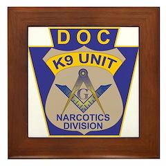 D. O. C. K9 Corps Framed Tile