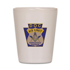 D. O. C. K9 Corps Shot Glass
