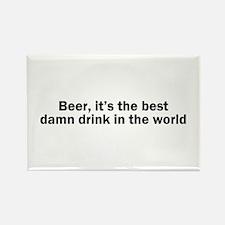 Beer Best Damn Drink Rectangle Magnet (10 pack)