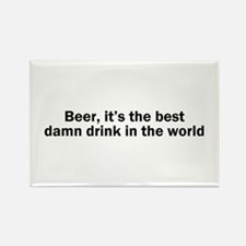 Beer Best Damn Drink Rectangle Magnet (100 pack)