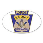 K9 Corps Masons Sticker (Oval)