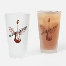Forever Rock & Roll Drinking Glass