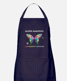 Autism Awareness Butterfly Apron (dark)