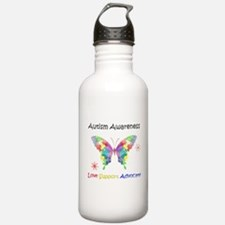 Autism Awareness Butte Water Bottle