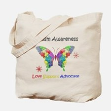 Autism Awareness Butterfly Tote Bag