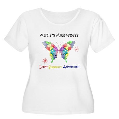 Autism Awaren Women's Plus Size Scoop Neck T-Shirt